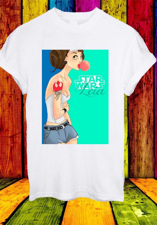 Star Wars Princess Leia Budak Pemberontak Hipster Karet Pria Wanita Unisex T-shirt 808 Streetwear Harajuku Leisure Kemeja TEE