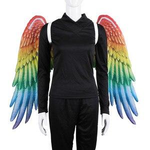 2020 neue Stil Karneval Party Phantasie Erwachsene Homosexuell Stolz Cosplay Zubehör Große Große Engel Regenbogen Flügel