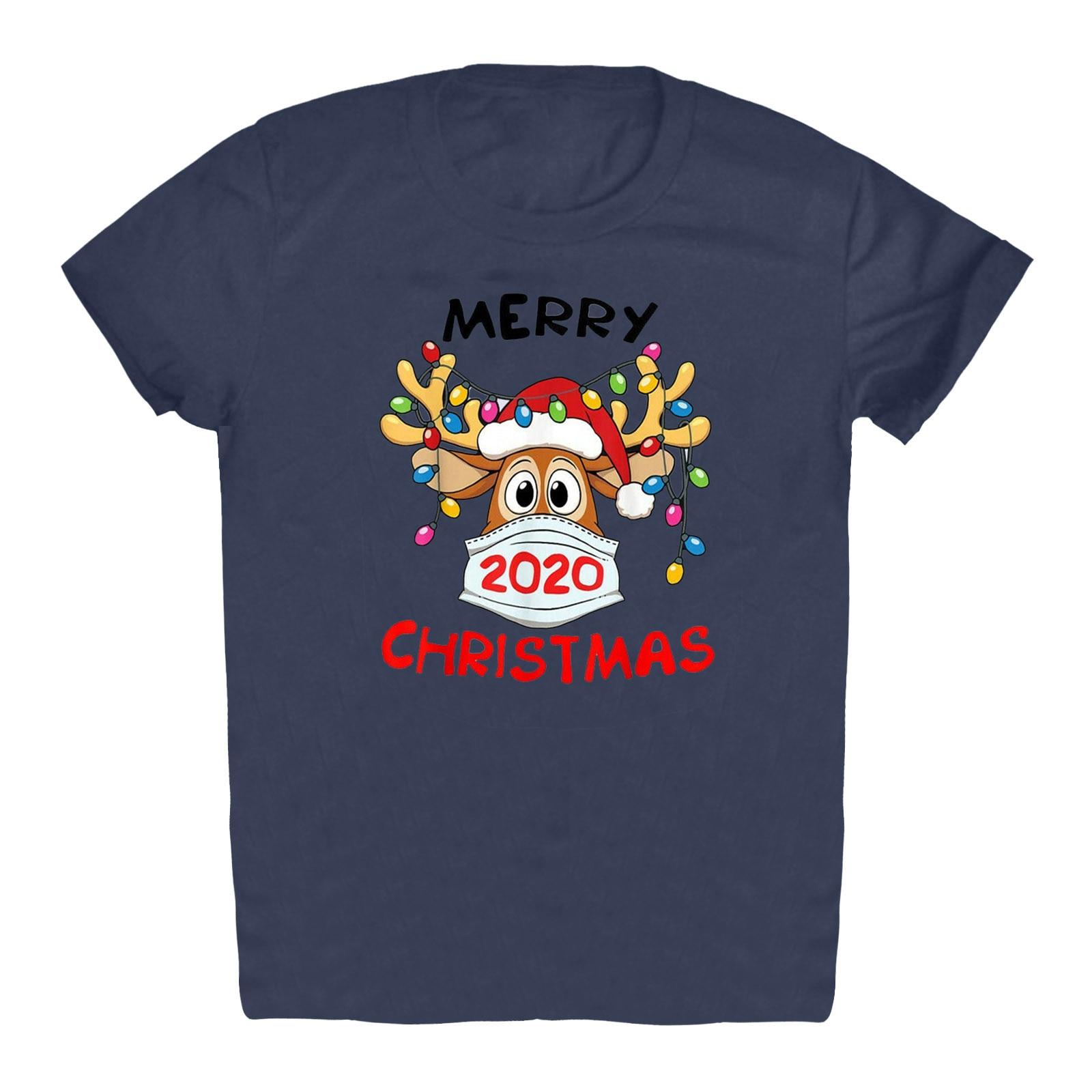 Christmas Women Short Sleeve Casual T-Shirt Santa Snowflake Funny Print Tops for women summer женские футболки футболка
