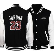 Coats Jordan Sportswear Baseball-Jackets Mens Fashion Print Uniform Hip-Hop Loose Warm