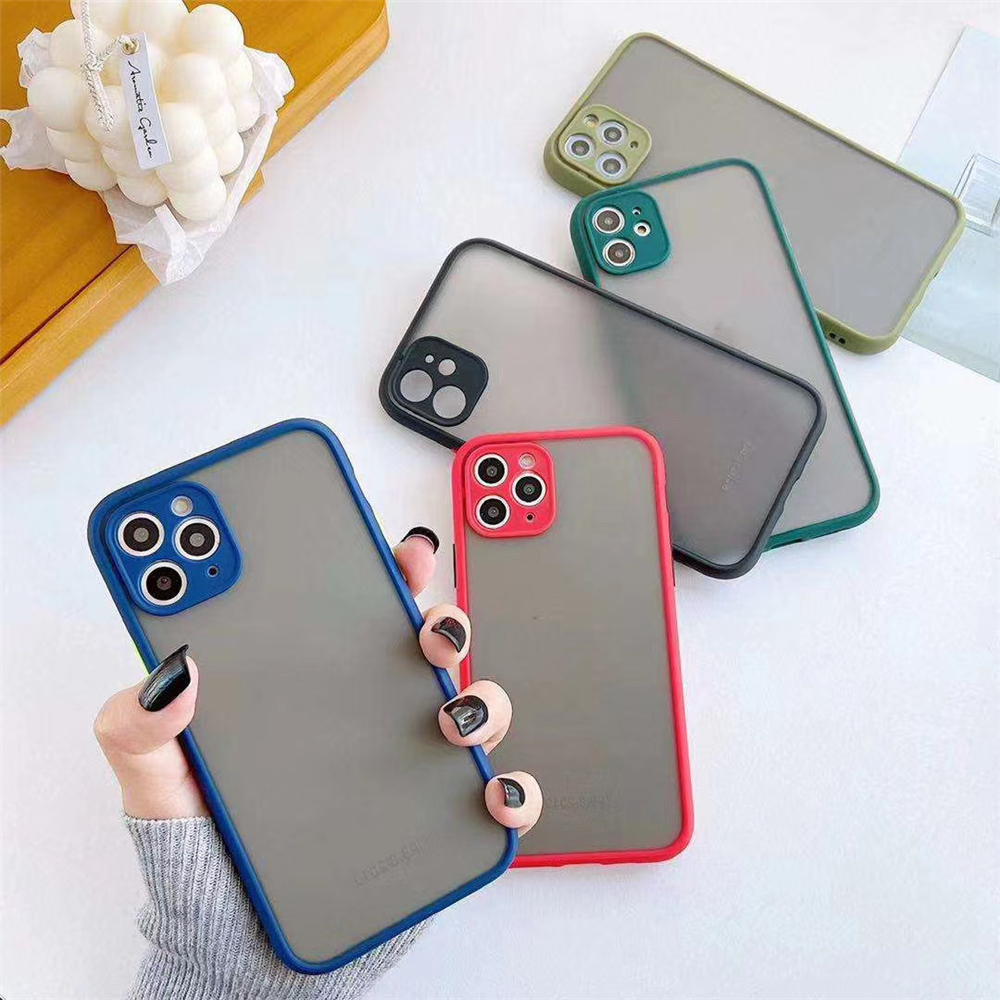 Candy Colors Case for iPhone 11 12 mini Silicone Skin Matte Back Cover for iPhone 6 6s 7 8 Plus X XR Xs 11 Pro Max SE 2020 Coque