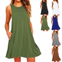 2020 New Arrivals Women Summer Fashion Sleeveless Sundress S