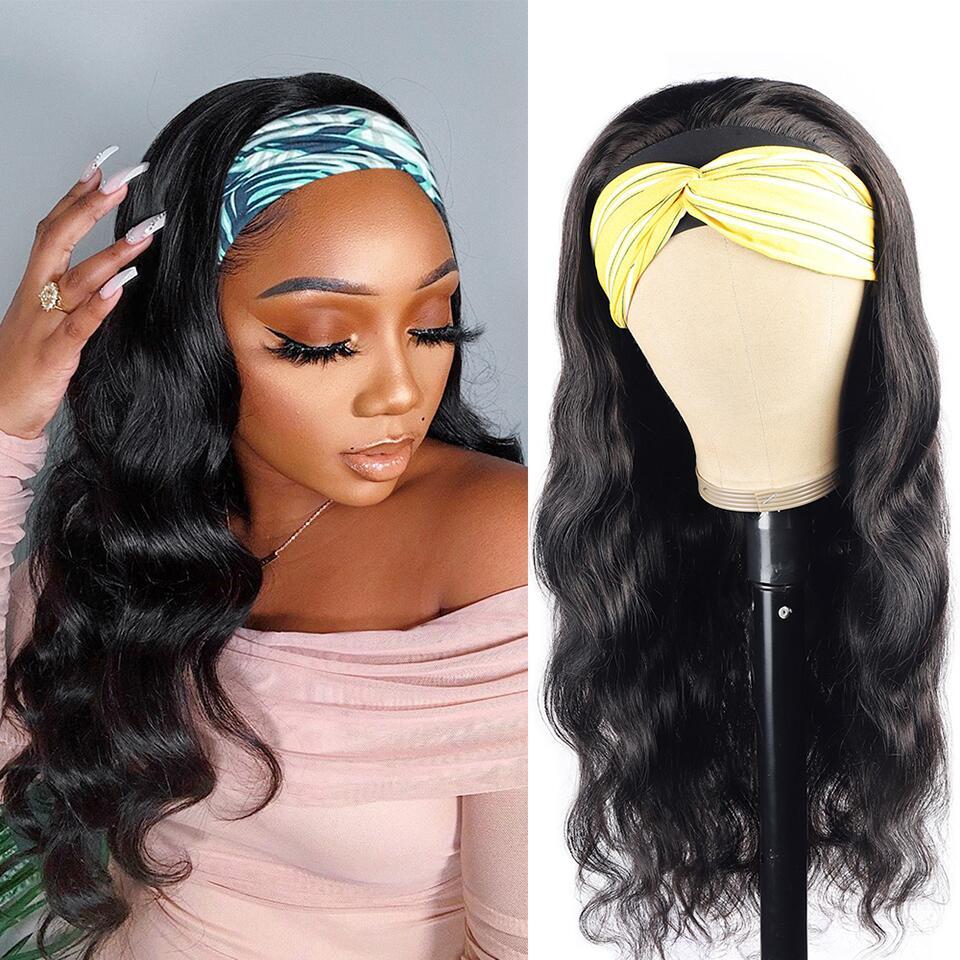 Abijale волнистые волосы парик с головной повязкой синтетические парики из натуральных волос для черный Для женщин лента для волос манекен для...