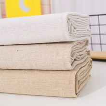 50x150cm Raw cloth faux Linen fabric rough solid polyester cotton fabric for sewing storage bag and pillow case background cloth