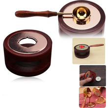 Vintage Stamp Wax Seal Beads Sticks Warmer Wax Sticks Melting Glue Furnace/Spoon Tool Stove Pot For Wax Seal Stamp Candle все цены