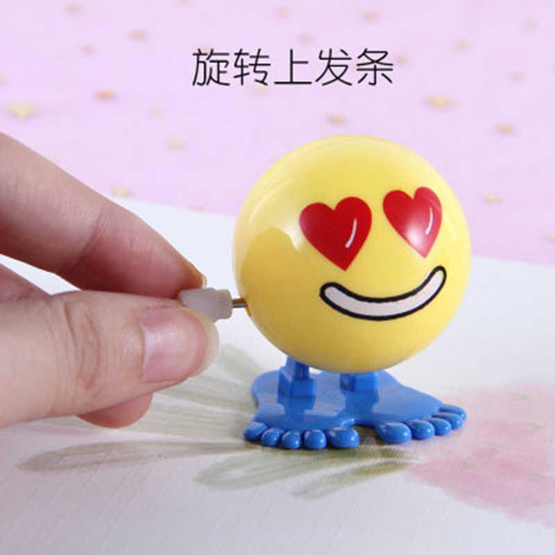 Huilong น่ารักเด็กของเล่นบนโซ่กระโดด Expression ฟุตบอลฟักทอง Eyes Vintage Wind Up หุ่นยนต์ของเล่นปริศนา