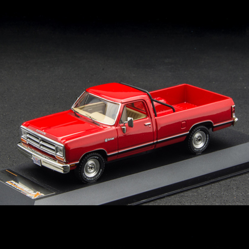 1/43 scale RAM pickup 1987 X alloy die-cast retro simulation static muscle toy <font><b>car</b></font> model collection indoor display image