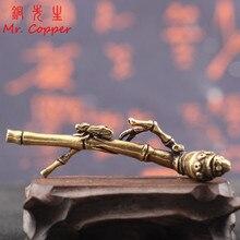 Cobre puro bambú mosca paz incienso quemadores decoraciones Vintage latón sándalo Incenser mesa de té ornamentos decoración del hogar artesanías
