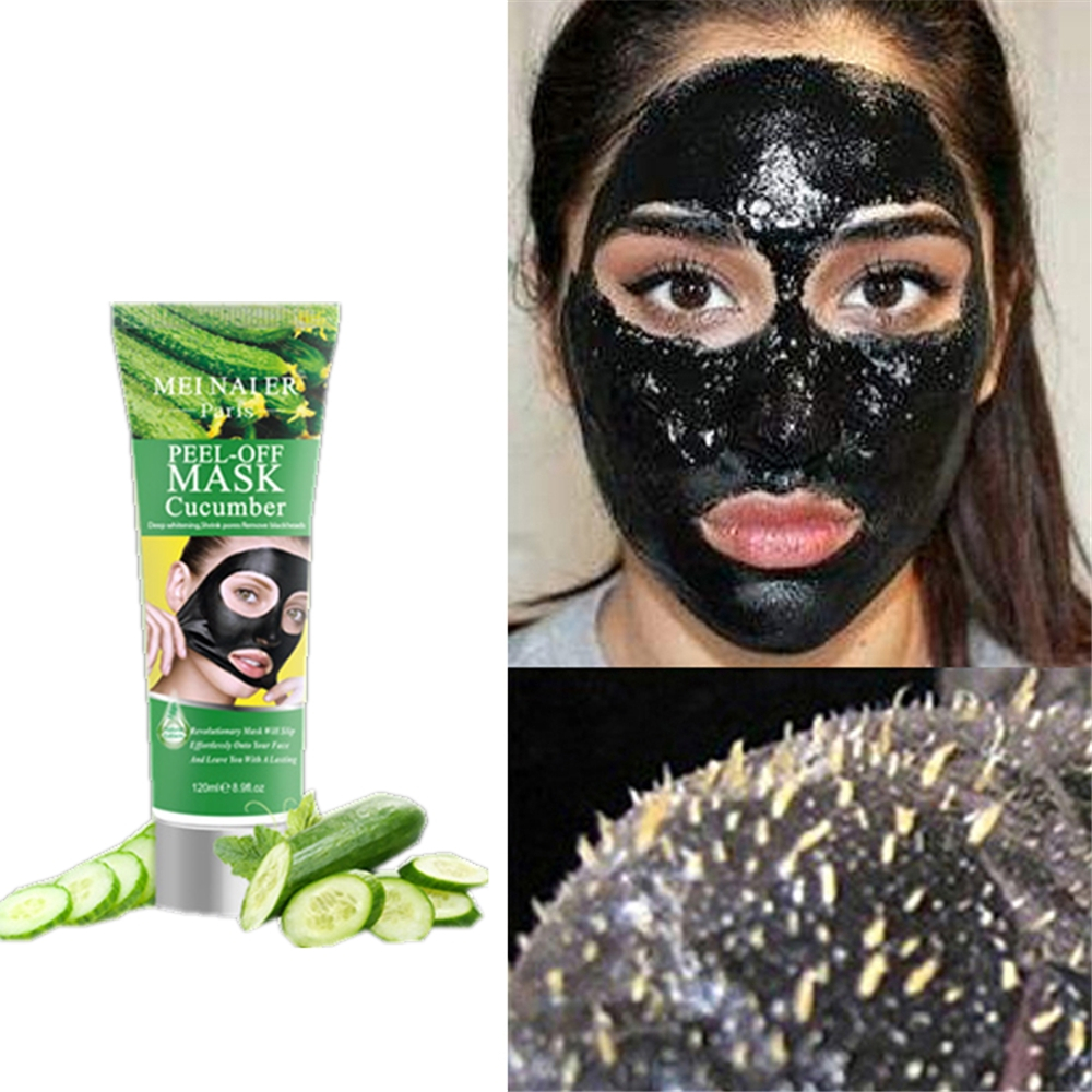Face Lift Cucumber Black Mask Nose Face Blackhead Remover Peel Off Mask Purifying Pore Cleanser Black Head Pore Skin Care