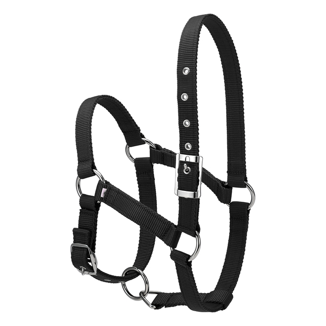 6MM Thickened Horse Head Collar Adjustable Safety Halter Bridle Headcollar Horse Riding Racing Equipment Training Rope S/M/L