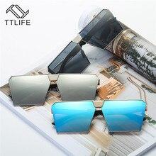 TTLIFE Oversized Womens Sunglasses Fashion Sun Glasses Big Frame Windproof Shades Men Flat Top Driving Goggles Uv400 YJHH0256