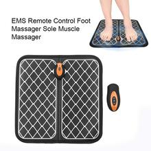 EMS Intelligent Foot Massager Wireless Remote Control Muscle Stimulator Physiotherapy USB Rechargeable Massage Tool Health