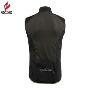 Image 3 - Arsuxeo男性女性サイクリングベスト防風防水ランニングベストmtbバイク自転車反射衣類ノースリーブサイクリングジャケット
