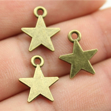 WYSIWYG 30pcs 15x12mm Vintage Star Pendants Charm For Jewelry Making Antique Bronze Color Star Pendants Charm Tiny Star cheap Zinc Alloy Sun Moon Stars Fashion Metal Charms