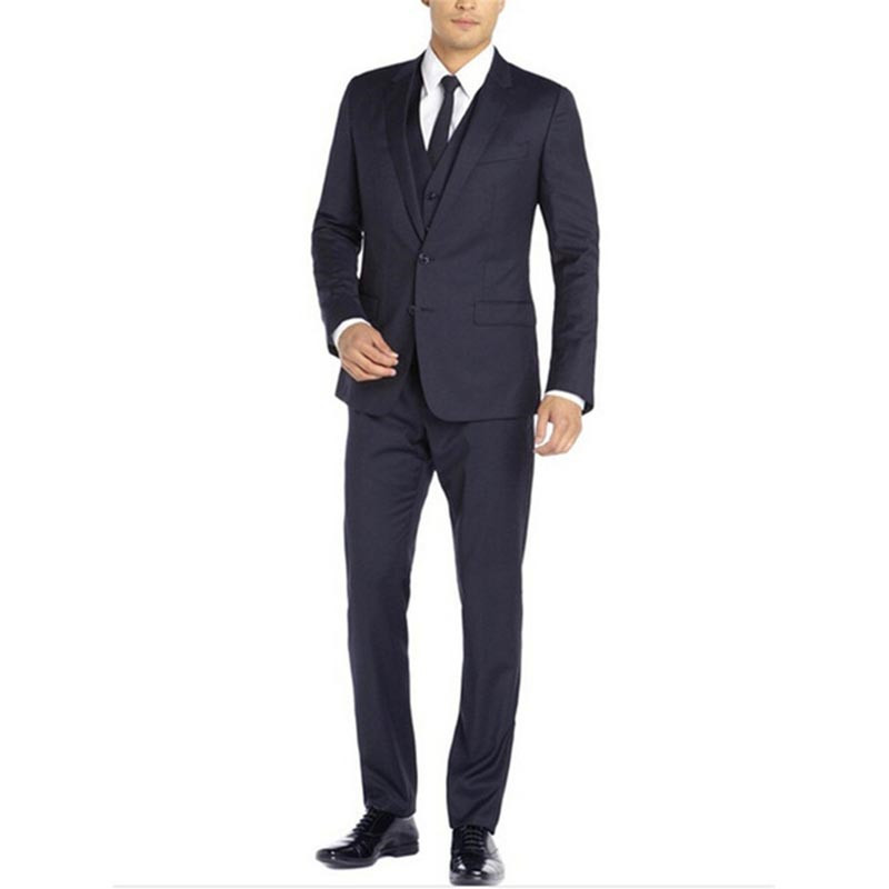 High Quality Three Piece Mens Formal Wedding Tuxedos Tailor Made Spring Business Outside Formal Suits Men (Jacket+Pants+Vest)