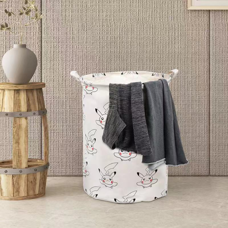 Totoro Foldable Canvas Laundry Basket for Book, Toy, Clothes Collapsible Cubes Storage Bin, Large Hamper Laundry Basket 3