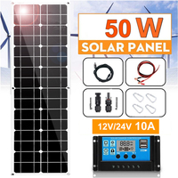 flexible Solar Panel 50w 100w 12v solar charger mono solar cell PV Module Battery Charger 5v usb for RV caravan car boat travel