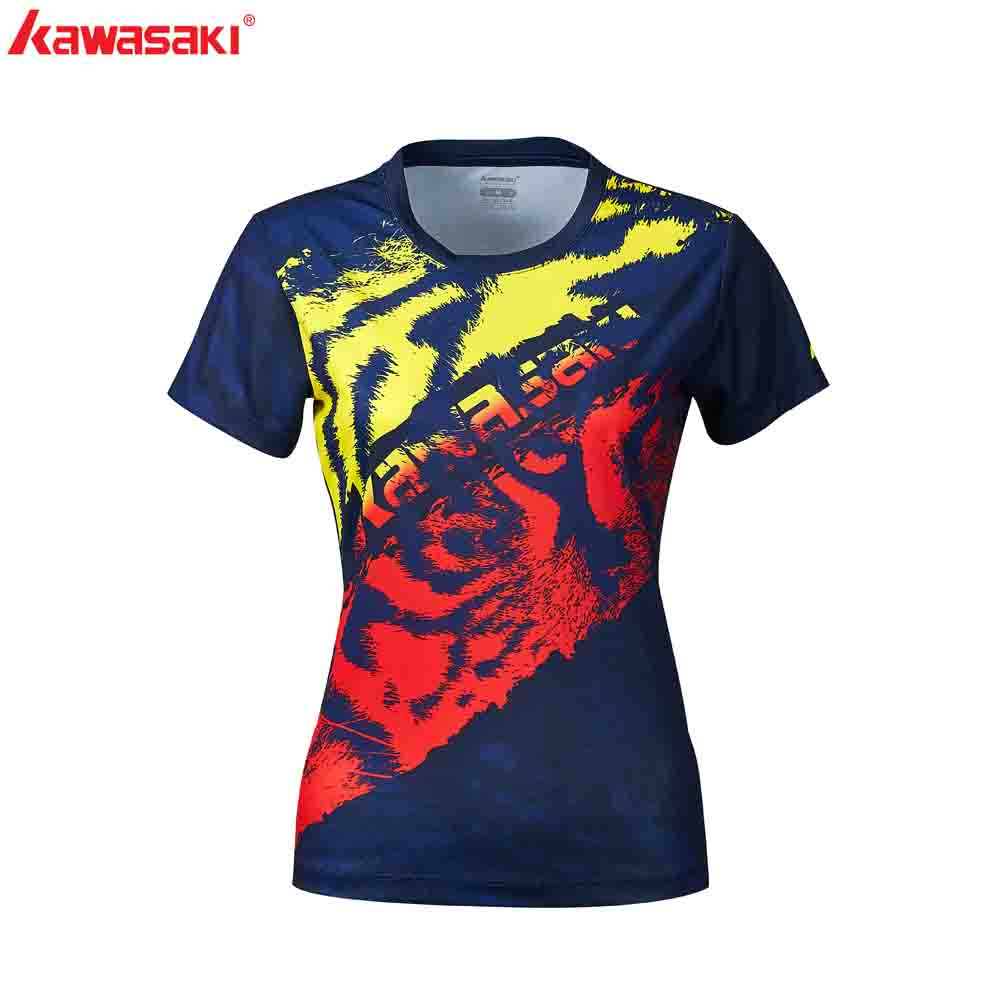 2020 Kawasaki Sports Women Shirts Short Sleeve Quick Dry Breathable Special Price Female Shirt Sportswear ST-R2242,ST-R2243