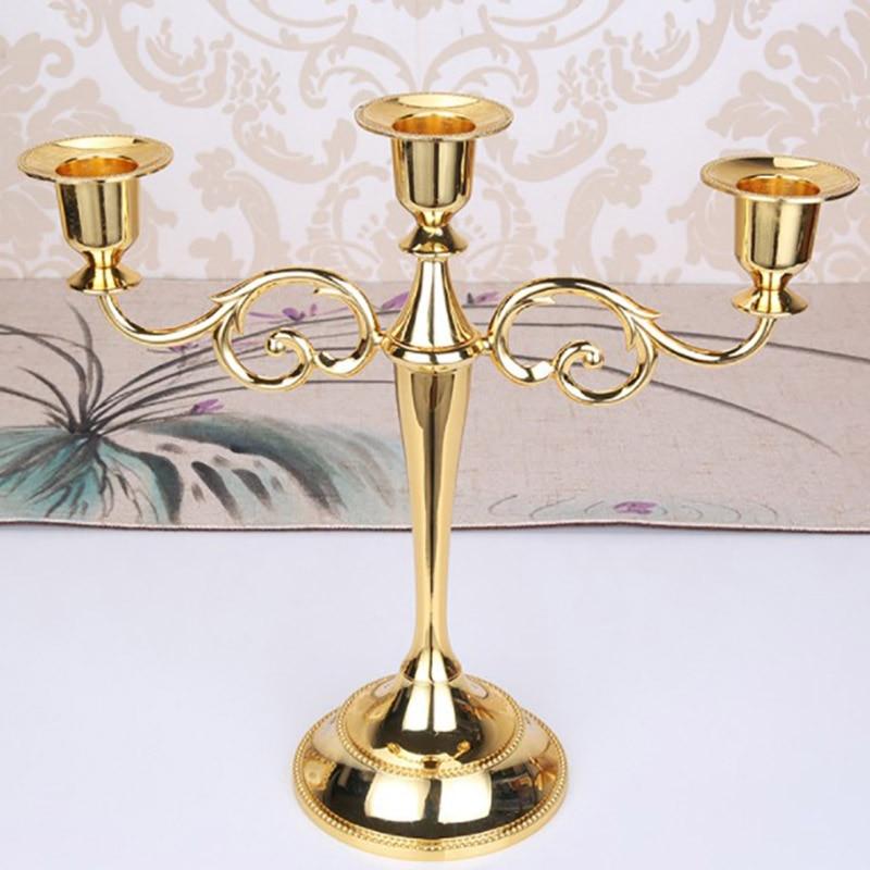 Castiçais de mesa de metal candelabros suporte de vela para casamento mesa de jantar festa de natal decoração de casa