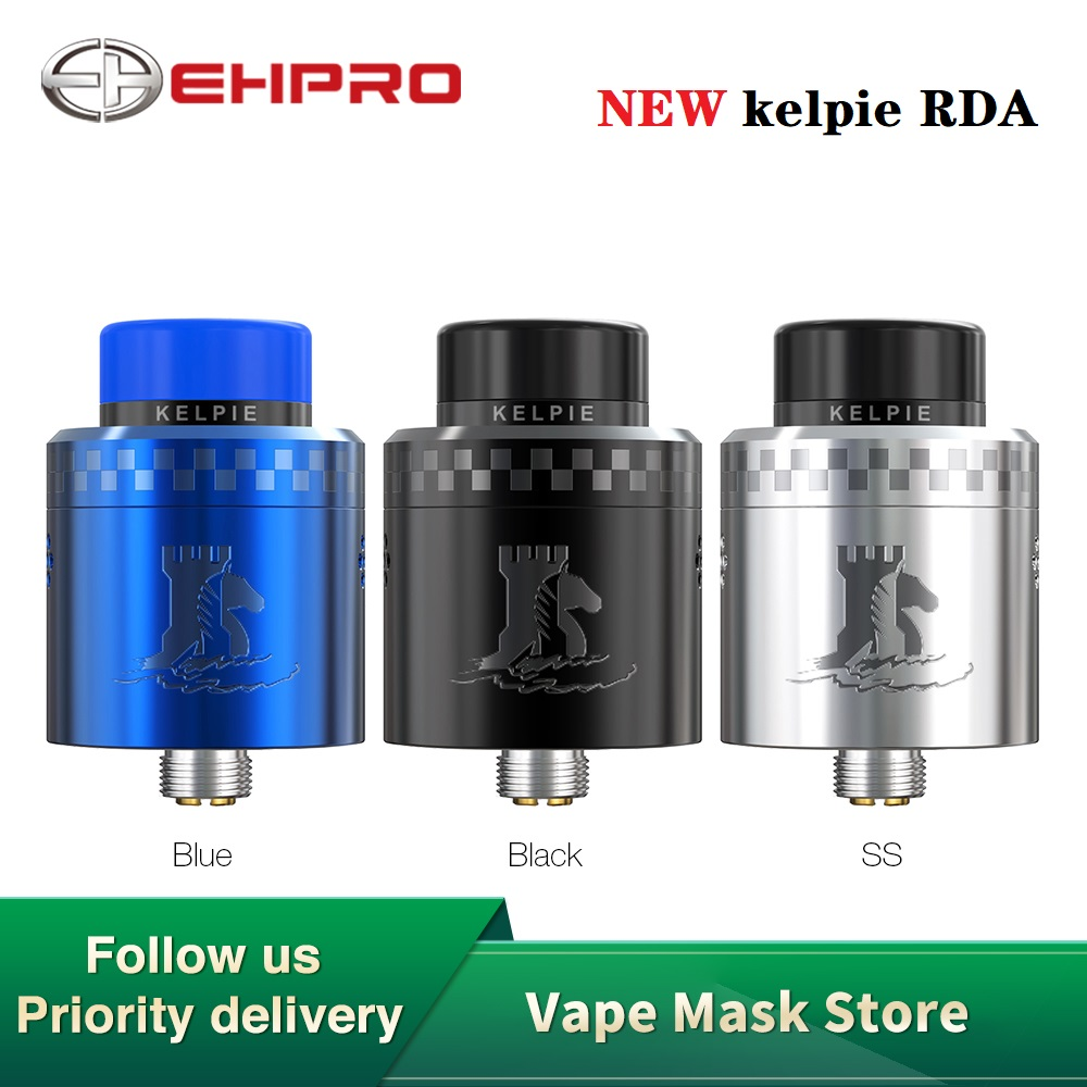 New Original Ehpro Kelpie RDA With Innovative Single Coil Building & Squonk Pin 24mm RDA Vape Atomizer Vs Zeus X/ Dead Rabbit