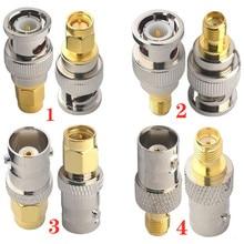Коннектор JX 2 шт. RF адаптер BNC-SMA BNC Мужской Разъем никелирование к SMA Гнездовой разъем позолоченный Разъем RF разъем прямой