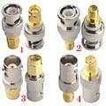 Коннектор JX 2 шт. РЧ-адаптер BNC-SMA BNC штекер никелированный штекер SMA женский штекер позолоченный РЧ разъем прямой