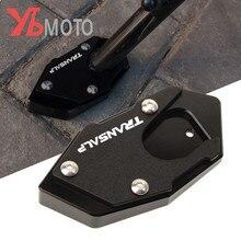 TRANSALP, plaque dagrandissement de béquille, support latéral, LOGO de moto, en aluminium CNC, pour Honda XLV 600, 650 et 700