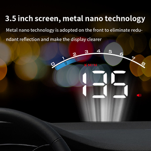 Image 2 - GEYIREN HUD M6s head up display Overspeed Warning Windshield Projector on board OBD scanner With Lens Hood Universal Auto HUD