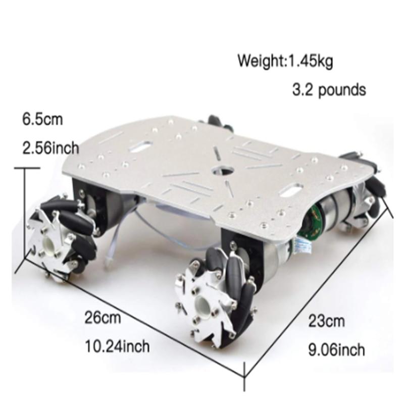 Platform Motor Car-Chassis Mecanum-Wheel-Robot Arduino-Controller Ros-Project with 4pcs