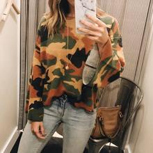 Camo Shirts Vrouwen 2019 Herfst Militaire Mode Lange Mouw Camouflage Print Top Plus Size Causale Harajuku Blouse High Street(China)