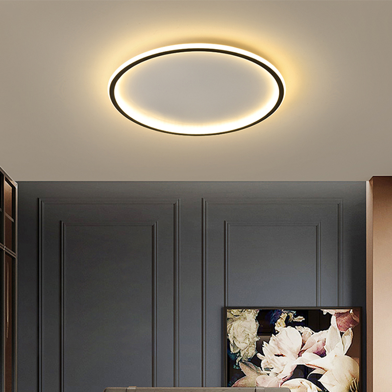 Modern led Ultra thin Ceiling Lights for living Room bedroom App RC Square/Round ceiling lamp fixtures 90 260V|Ceiling Lights|   - AliExpress