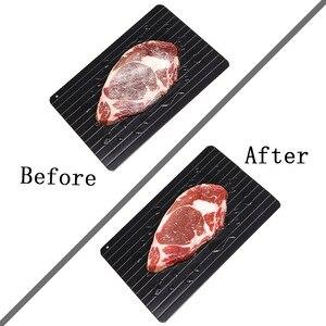 Image 3 - 解凍マスター家庭高速霜トレイ解凍食品肉フルーツクイック霜プレートボード霜トレイキッチンツール