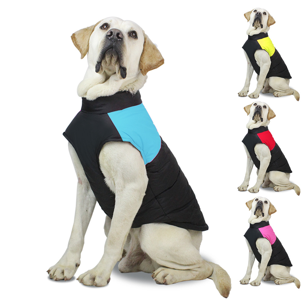 Waterproof French Bulldog Big <font><b>Dog</b></font> Vest Jacket Winter Warm <font><b>Pet</b></font> <font><b>Dog</b></font> Clothes For Small Large <font><b>Dogs</b></font> Puppy Pug Coat <font><b>Dogs</b></font> <font><b>Pets</b></font> <font><b>Clothing</b></font> image