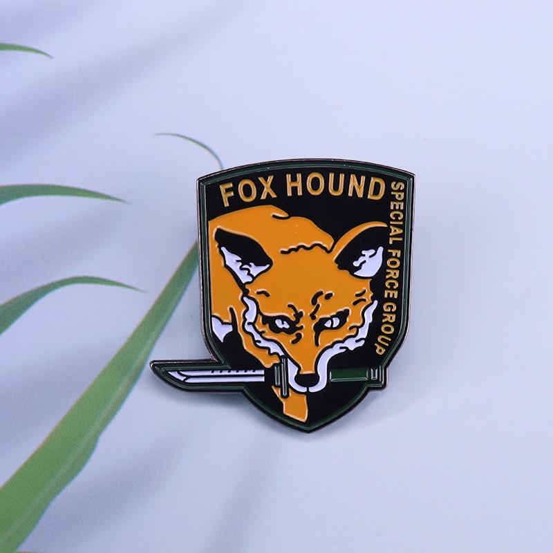 Прочный металлический значок для косплея Foxhound