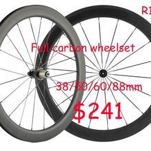 Bike-Wheels Bicycle Road-Clincher Carbon Full-700c 38/50/60/88mm Basalt-Brake Matte