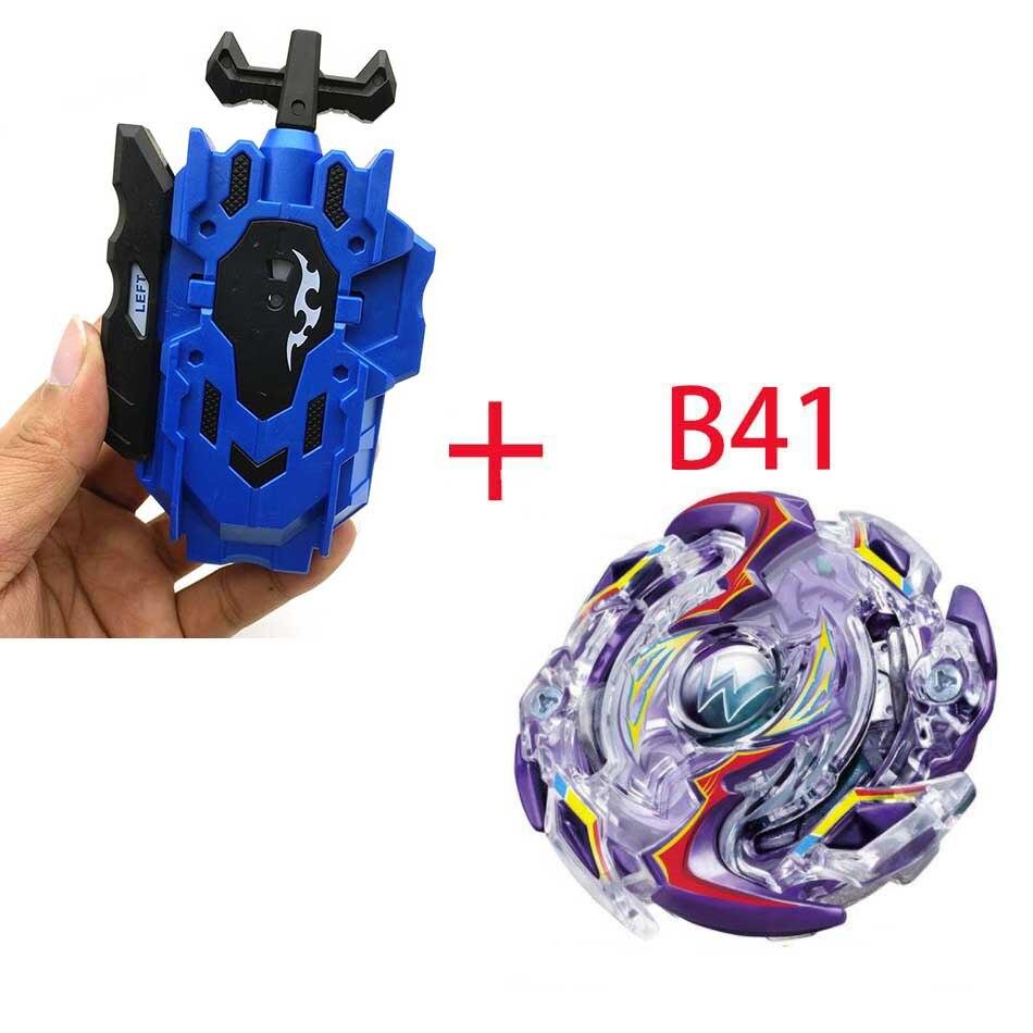 Волчок Beyblade BURST B-130 B-117 с пусковым устройством Bayblade Bay blade металл пластик Fusion 4D Подарочные игрушки для детей - Цвет: B41