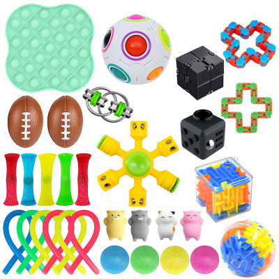 Fidget-Toys Autism Decompression-Toy Stress Anxiety Adults Pop for Kids 31PCS Bubble