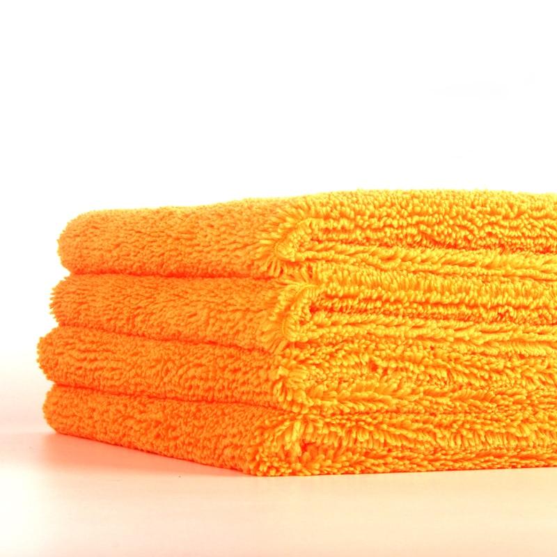 2020 New Mirofiber Car Washing Towel 40*40cm 400GSM Orange High And Low Hair Car Cleaning Detailing Towel Super Water Absorbing