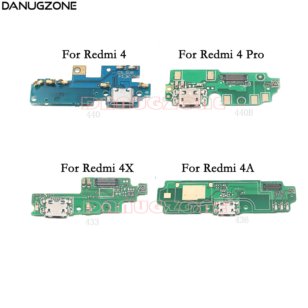USB Charging Dock Jack Plug Socket Port Connector Charge Board Flex Cable For Xiaomi Redmi 4 Pro / Redmi 4X 4A