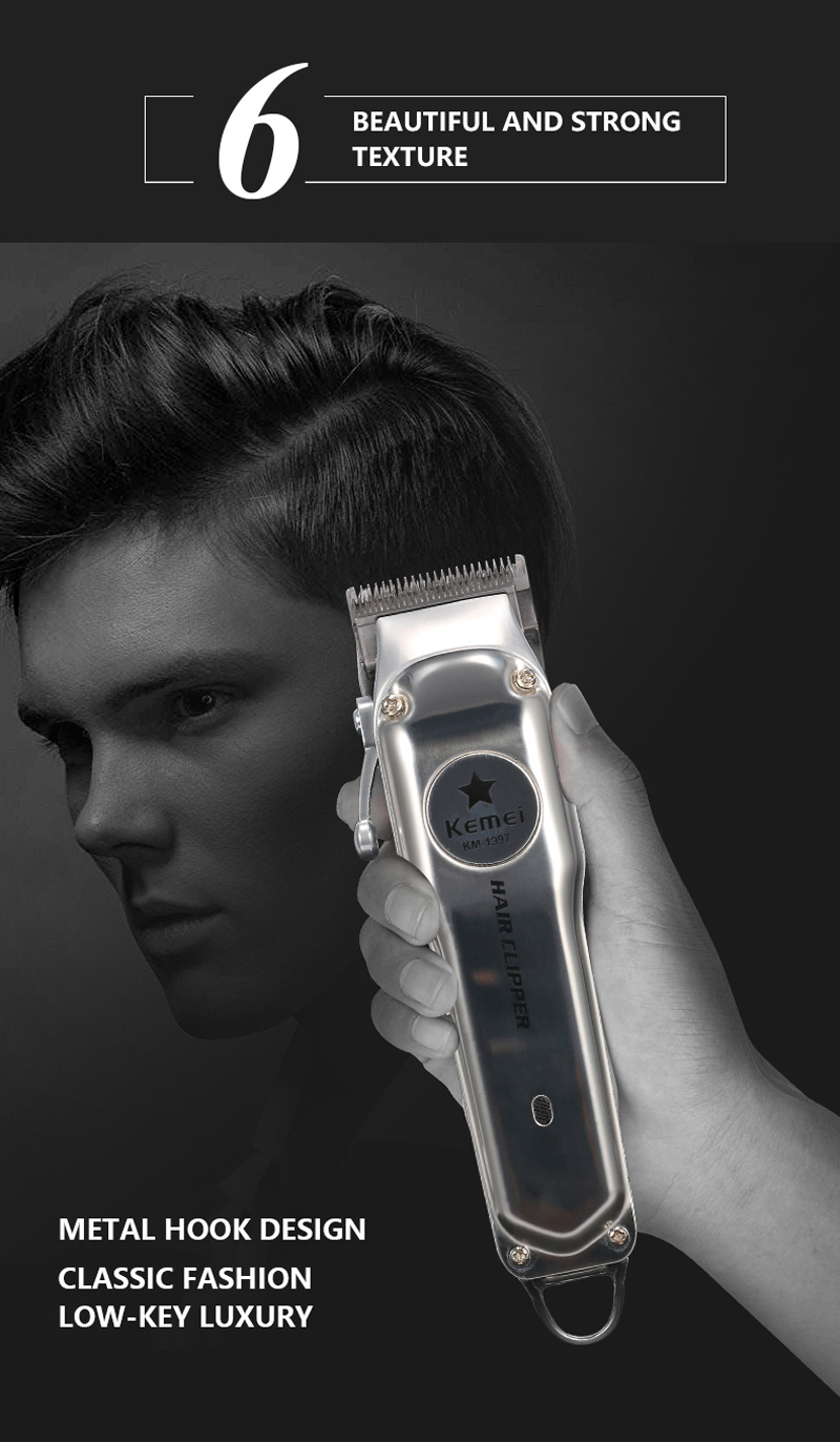 sem fio para homens poderosa máquina de corte de cabelo
