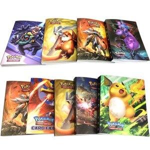 Image 5 - Álbum con soporte para tarjetas de pokemon, nuevos estilos, 80/240 uds, juguetes para regalo, tarjetas marcadores de libros, álbum