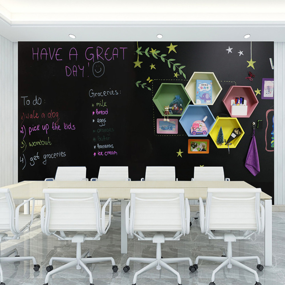 Magnetic Long Time Children Blackboard Wall Paste Home Graffiti Magnetic Wall Film Black Green Non-toxic Clean Blackboard