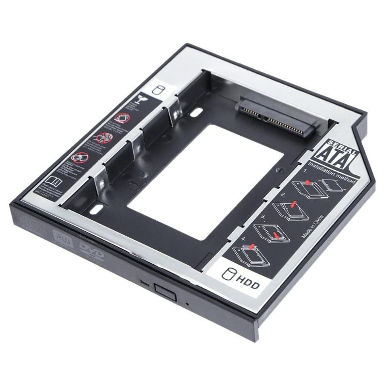 Aluminum Plastic 12.7mm For 2.5 Inch SATA SSD Case Hard Disk Drive Enclosure Bay Laptop CD-ROM Disk Drive Holder