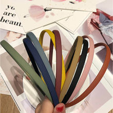1 шт модные матовые тонкие пластиковые повязки для волос карамельного
