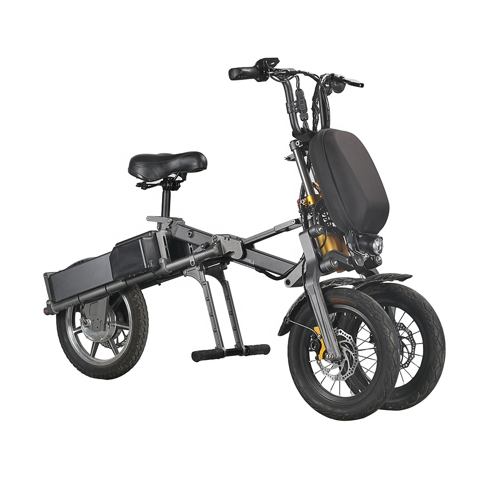 EcoRider 2019 New E6-7 250W Electric Bike 14 Inch City Road Bicycle electric scooter 3 wheels 1