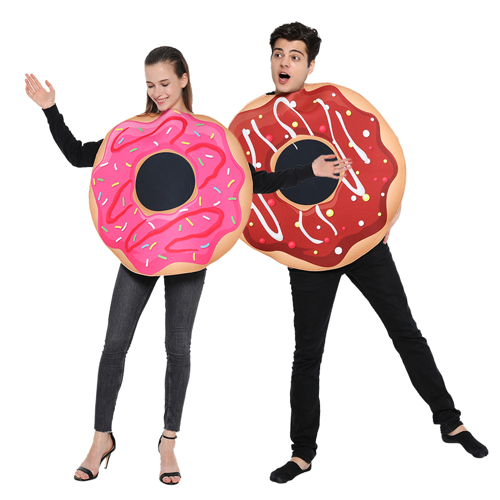 Snailify Funny Donut Cosplay Women Halloween Costume For Adult Men Couple Food Fancy Dress Christmas Party Family Outfits