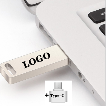 2 IN 1 Metal USB Flash Drive High Quality Usb Type-C Pendrive 8/16/32/64/ Pen Stick Memory U Disk