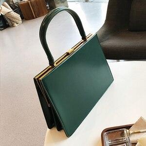 Image 3 - Burminsa sacs à main dautomne en cuir PU pour femmes, avec fermoir, cadre métallique, Design Fashion enveloppe, fourre tout pour dames, boîte demballage, collection 2020