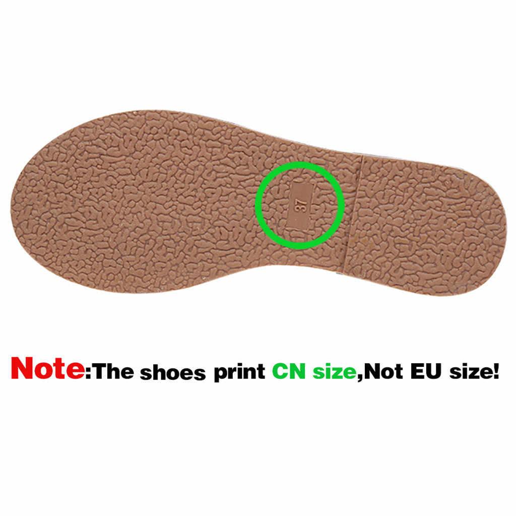 ผู้หญิงฤดูร้อนผ้าลินินรองเท้าแตะสี CROSS เข็มขัดรองเท้าแตะ Flip Flops หญิงในร่มรองเท้าผู้หญิงรองเท้าแตะ #3