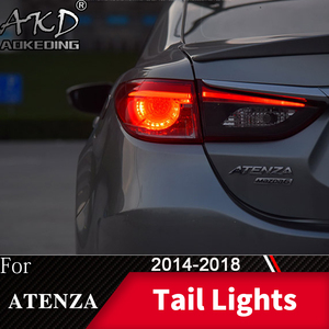 Задний фонарь для автомобиля Mazda 6 2014-2018 Mazda6 Atenza светодиодный задний фонарь Противотуманные фары Дневные ходовые огни DRL тюнинг автомобильны...